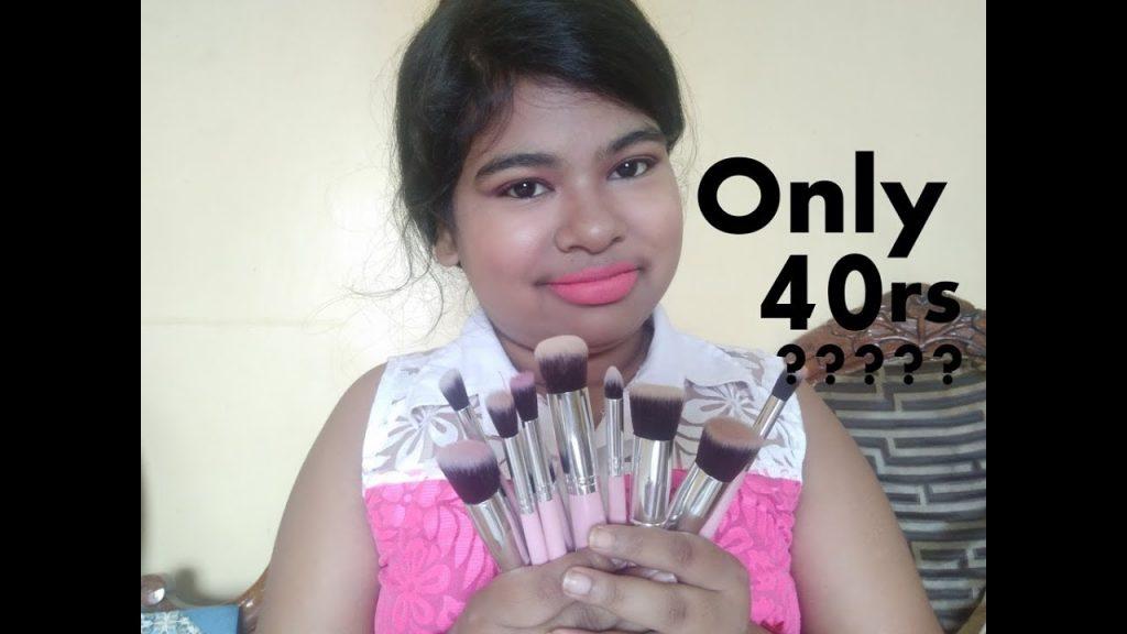 Beginners full makeup brushes set – generic makeup brushes Review and demo