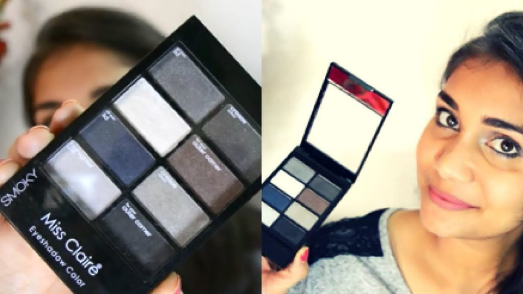 Easy Smokey Eye Makeup for Beginners   Miss Claire Smokey Eyeshadow Palette Review
