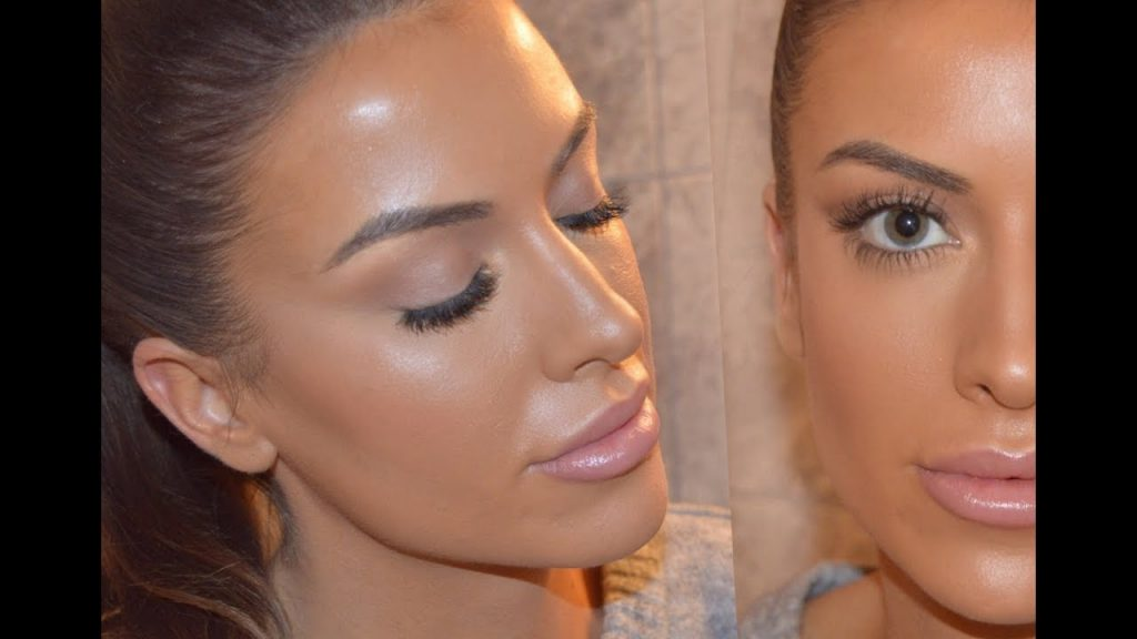 Clean, simple, contoured full face make up | KYLIE X KKW inspired.