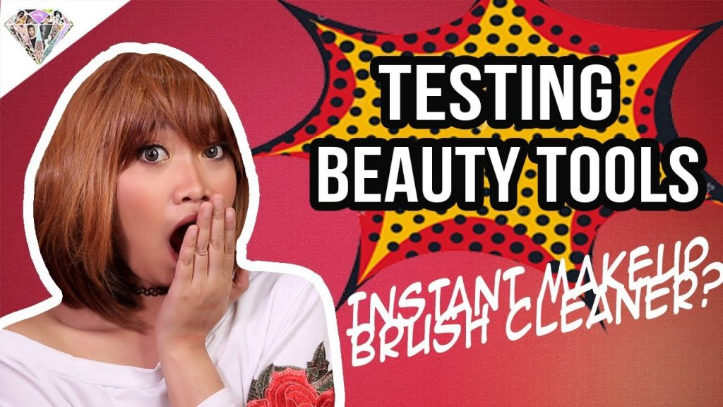 INSTANT MAKEUP BRUSH CLEANER?!  BLUE HAIR?! VAMP STAMP?! Testing Beauty Tools | Mae Layug