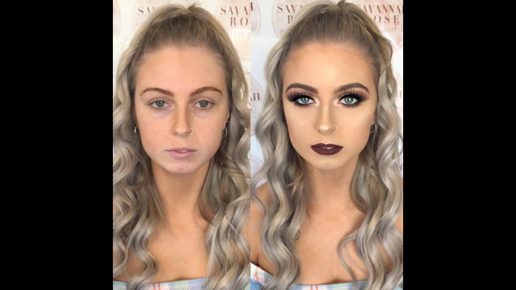 SHIMMER EYE & BURGUNDY LIP | CLIENT MAKEUP TUTORIAL | SAVANNAH ROSE MAKEUP ARTISTRY