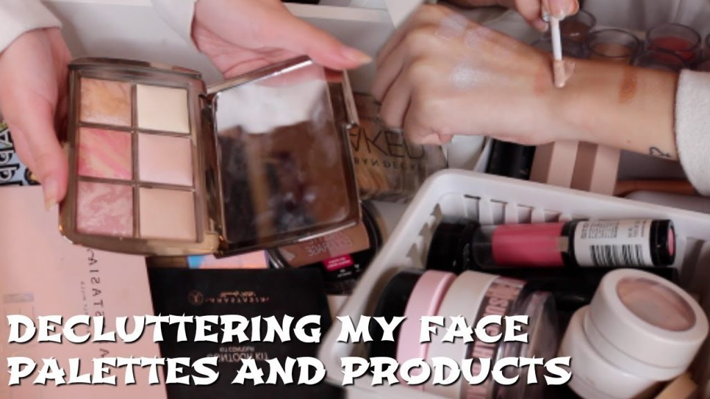 DECLUTTERING MY MAKEUP PT 4 | face palettes and cream products