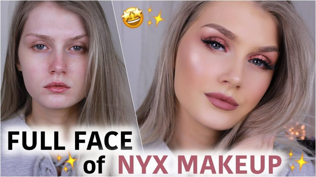 FULL FACE using only NYX MAKEUP | Cranberry Copper Glitter Glam