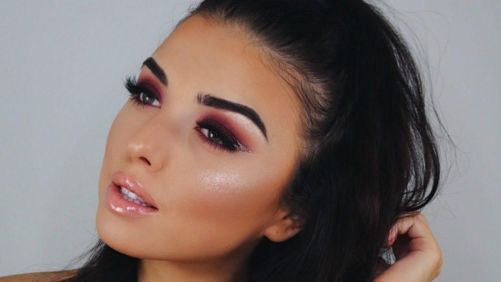 Plum Smokey Eye + Peach Lips | Thanksgiving GLAM Makeup Tutorial