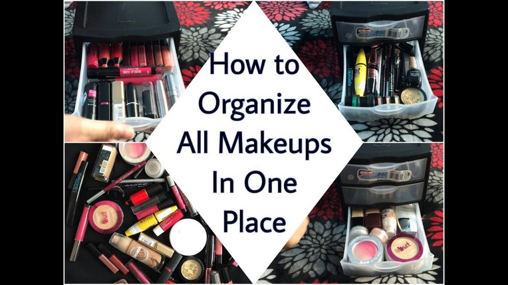 HOW TO ORGANIZE ALL MAKEUPS IN ONE PLACE||FACE,EYE,LIP MAKEUP ESSENTIALS||