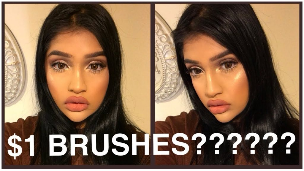 TRYING $1 MAKEUP BRUSHES + A MICROFIBER FUSION SPONGE
