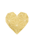 Geometric-gold-foil-heart