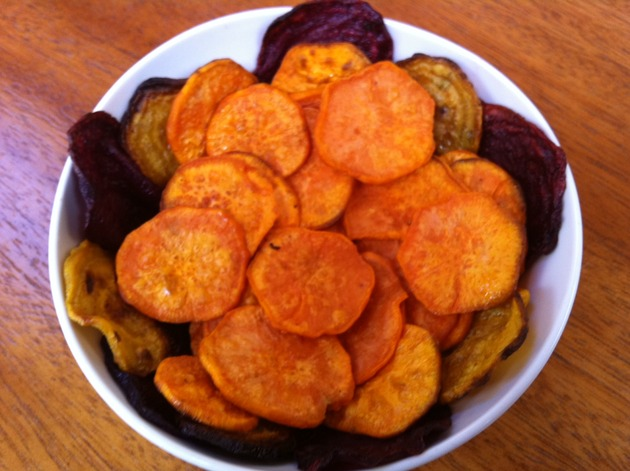 Sweet Potato & Beet Crisps by Tara