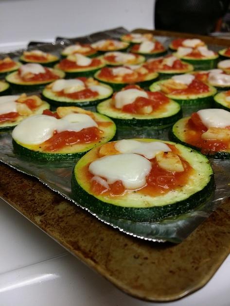 Zucchini Pizza by Sarah Kurniawan
