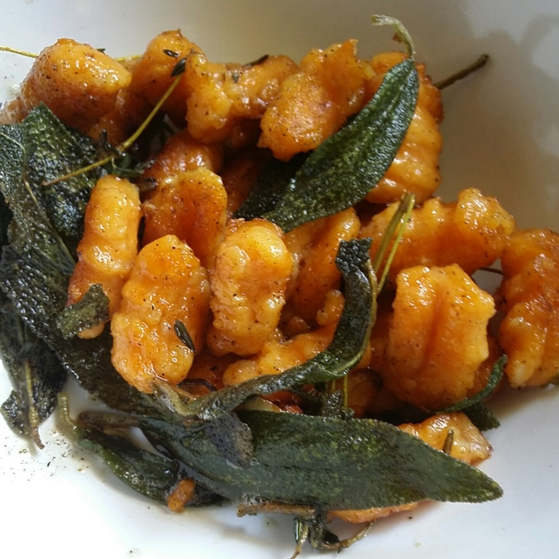 GF Sweet Potato Gnocchi with Thyme, Garlic and Sage by Sarah Kurniawan
