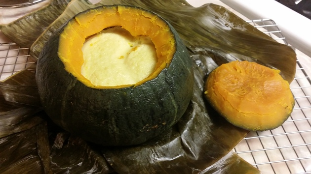 "Steamed Thai Pumpkin Custard"" by Sarah Kurniawan"