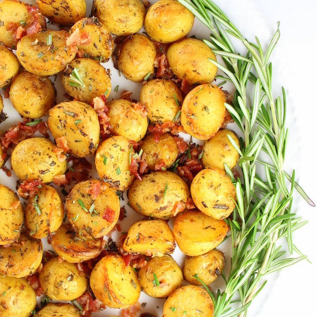 Smoky Salt And Vinegar Roasted Potatoes Recipe | Cookooree