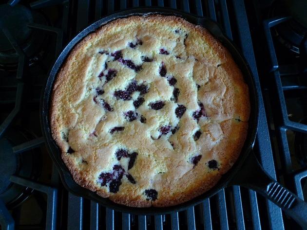 Blackberry Cornmeal Cake Recipe | Cookooree