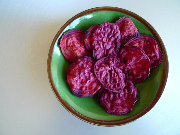 microwave beet chips by joanie
