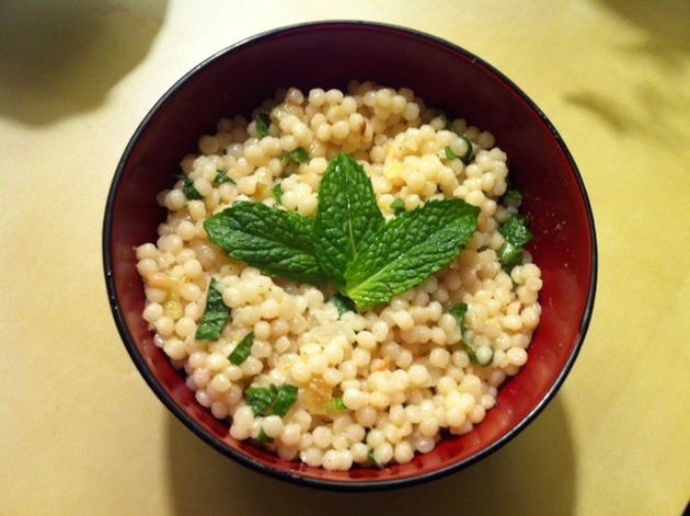 Israeli Couscous With Mint And Lemon Recipe | Cookooree