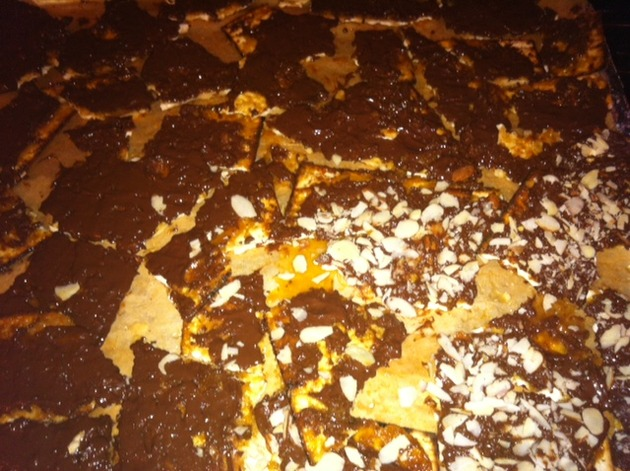 Chocolate Caramel Matzoh Crunch (aka Matzoh Crack) by Tara