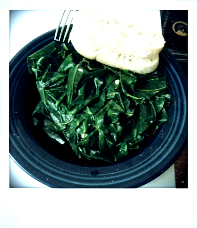 Braised Collard Greens (vegetarian) by alchemisty