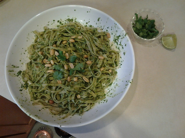 Cilantro Ginger Sesame Peanut Pesto. Yes, all that. by alchemisty