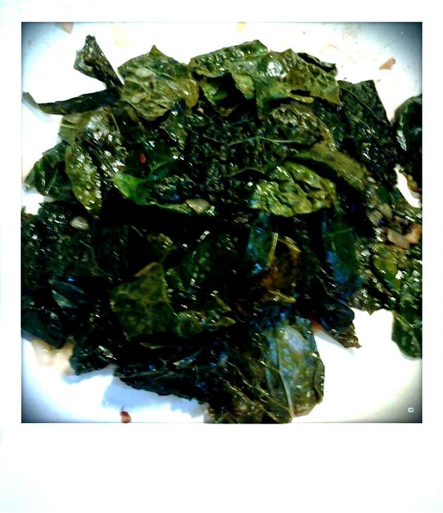 Lemony Spicy Kale by alchemisty