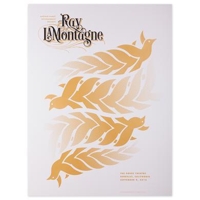 Ray Lamontagne The Ouroboros Tour 2016 - Berkeley, CA Poster
