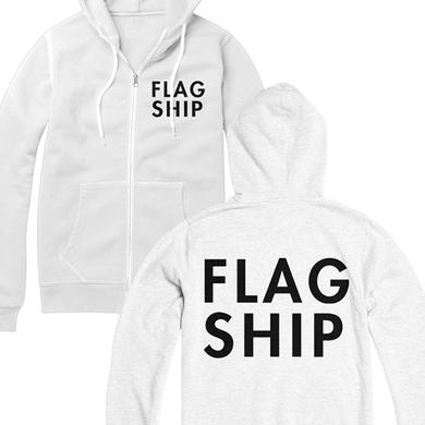 Flagship Logo Zip Up Hoodie (White)
