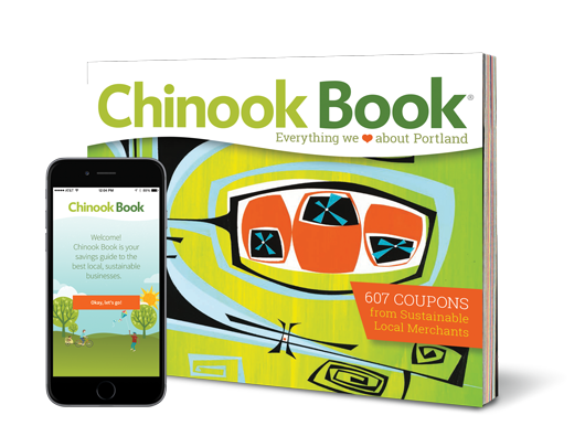 Photo of Chinook Book App and hard copy book