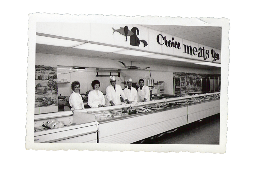 Vintage photos of Fricks employees and customers.