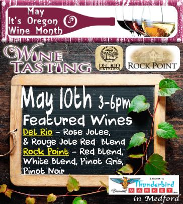 Sherm's Thunderbird in Medford May 10th Wine Tasting