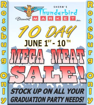 Roseburg Meat Sale June 1st-10th