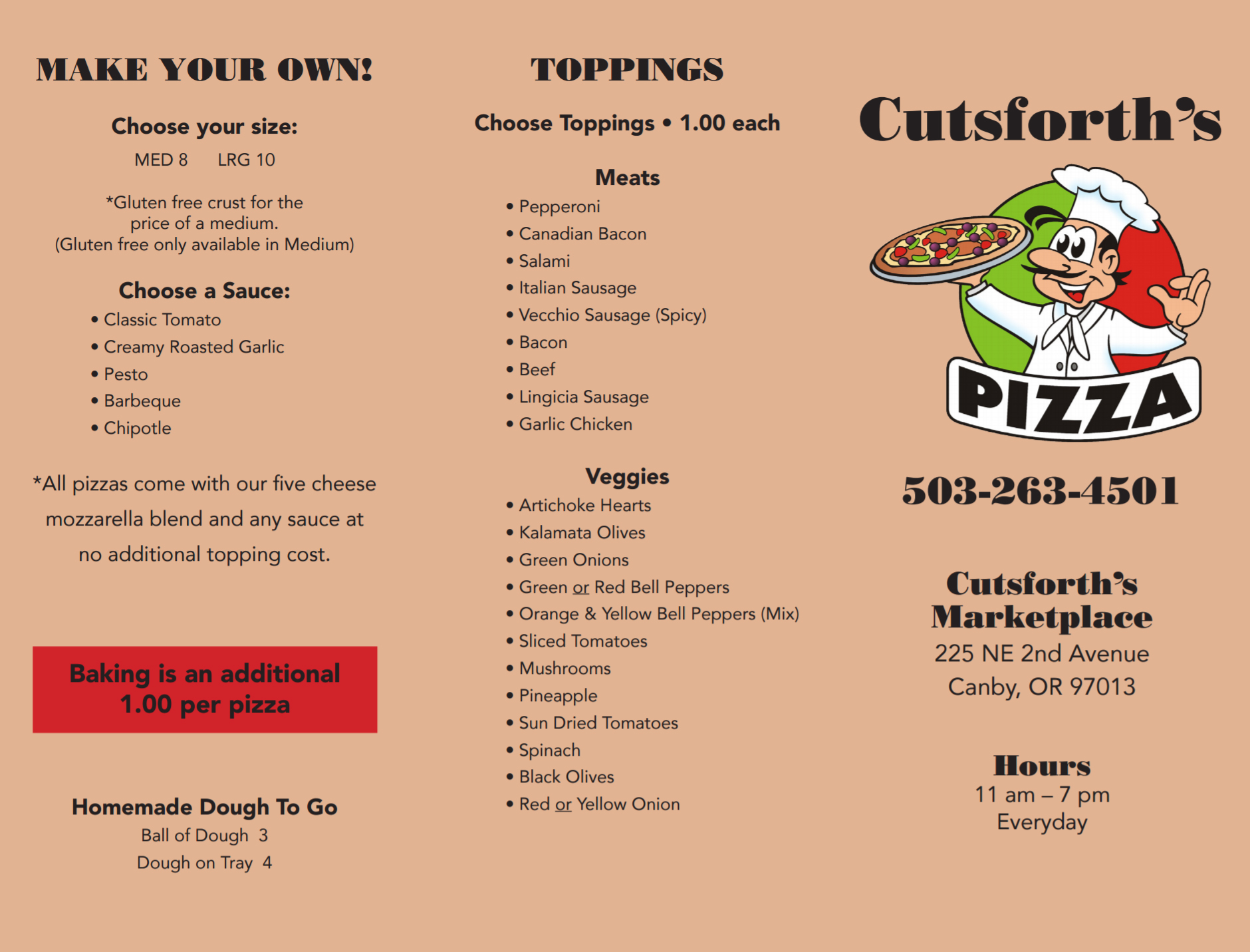 Cutsforth Pizza Menu 2