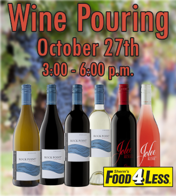 Del Rio Wine Pouring Oct 27th, 3-6pm