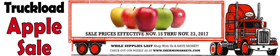 Truckload Apple Sale