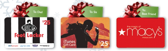Gift Card Selection