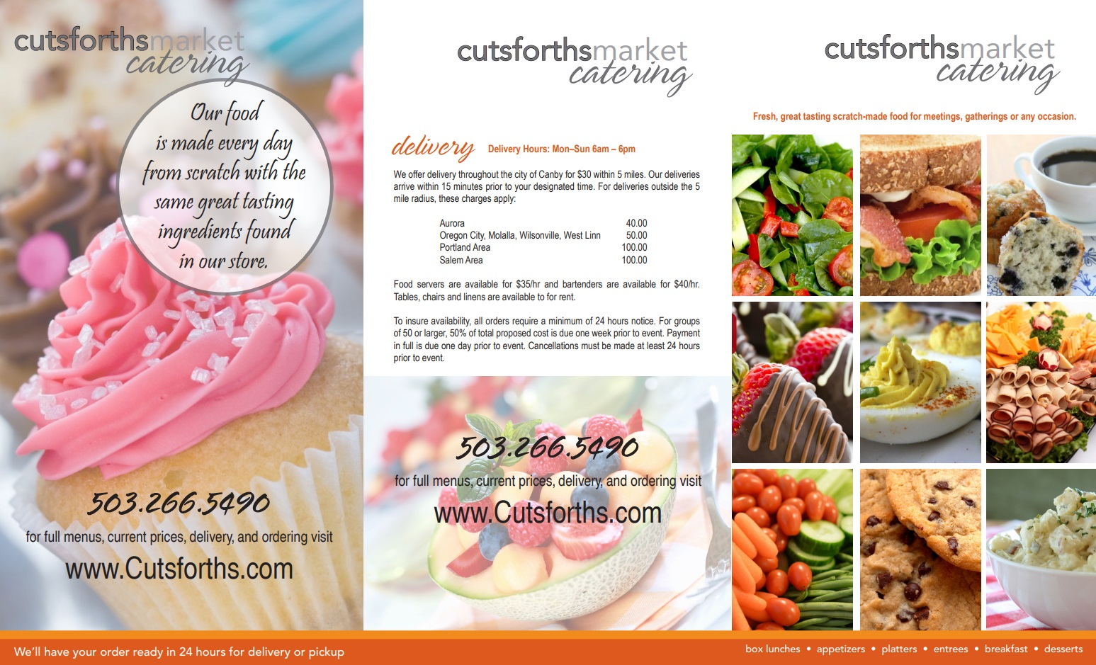 Cutsforth's Catering Menu Page 2