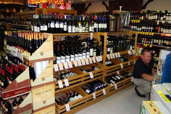 Inside View of JC Market Wine Cellar