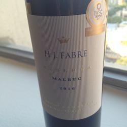 HJ Fabre Reserve Malbec Argentina Wine