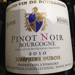 Josephine Dubois Bourgogne Grande Reserve France Wine