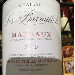 Château Les Barraillots Margaux France Wine