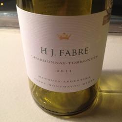 HJ Fabre Chardonnay-Torrontés Argentina Wine
