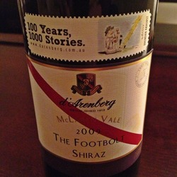 The Footbolt Shiraz  Wine