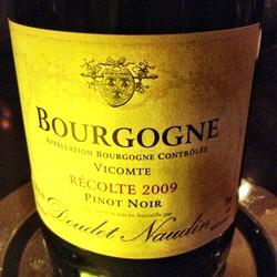 Bourgogne Vicomte Récolte  Wine