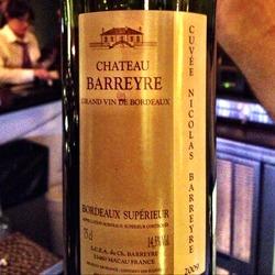 Château Barreyre Bordeaux Supérieur  Wine