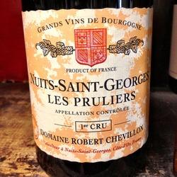Les Pruliers Nuits St. Georges 1er Cru  Wine