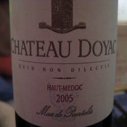 Château Doyac Haut-Médoc  Wine