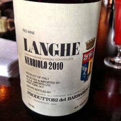 Langhe Nebbiolo Barbaresco  Wine