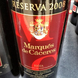 Marqués de Cáceres Rioja Reserva  Wine