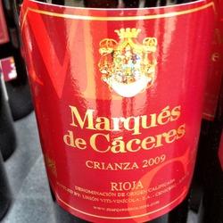 Marqués de Cáceres Rioja Crianza  Wine