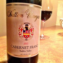 Hutton Vineyards Cabernet Franc  Wine