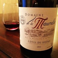 Domaine de la Maurelle Côtes du Rhône   Wine