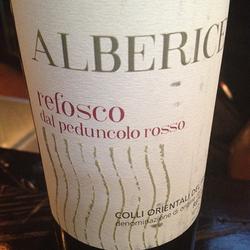 Alberice Refosco dal Peduncolo Rosso Italy Wine